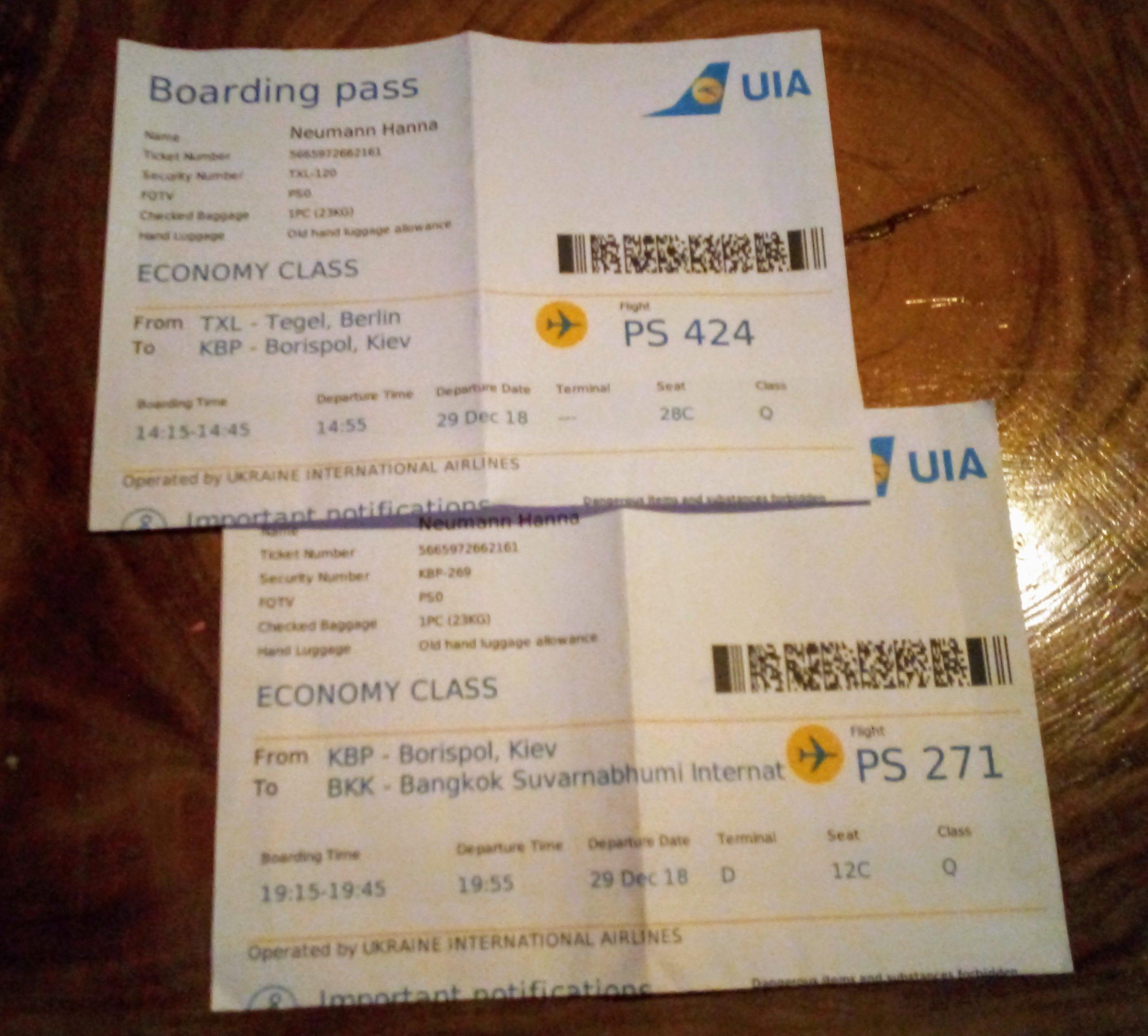 Ukranian Airlines ... Grit war skeptisch, aber alles ging gut